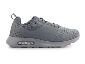 Ανδρικά Sneakers με πλεκτό σχέδιο και αερόσολα Γκρι
