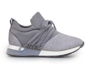 Γυναικεία sneakers με δίχρωμη σόλα Γκρι