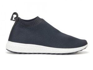Ανδρικά slip-on μαύρα αθλητικά παπούτσια κάλτσα
